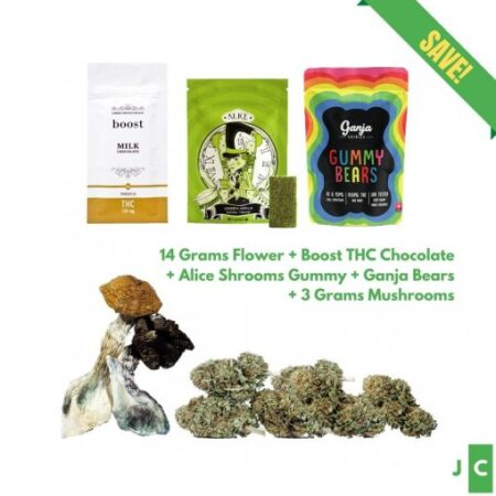 14 Grams Flower + 3 Edible Packs + 3 Grams Mushroom Bundle #4