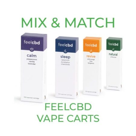 5 Pack FeelCBD Vape Cart – Mix and Match