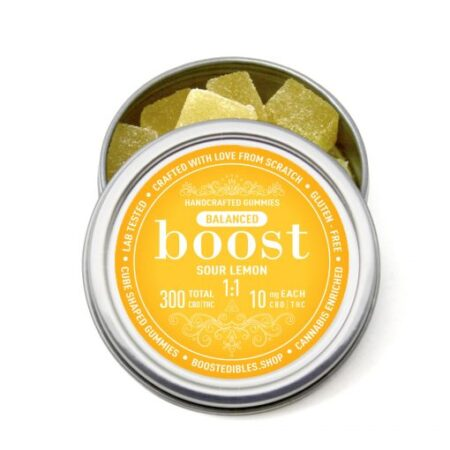 Boost 1:1 (CBD:THC) Sour Lemon Gummies
